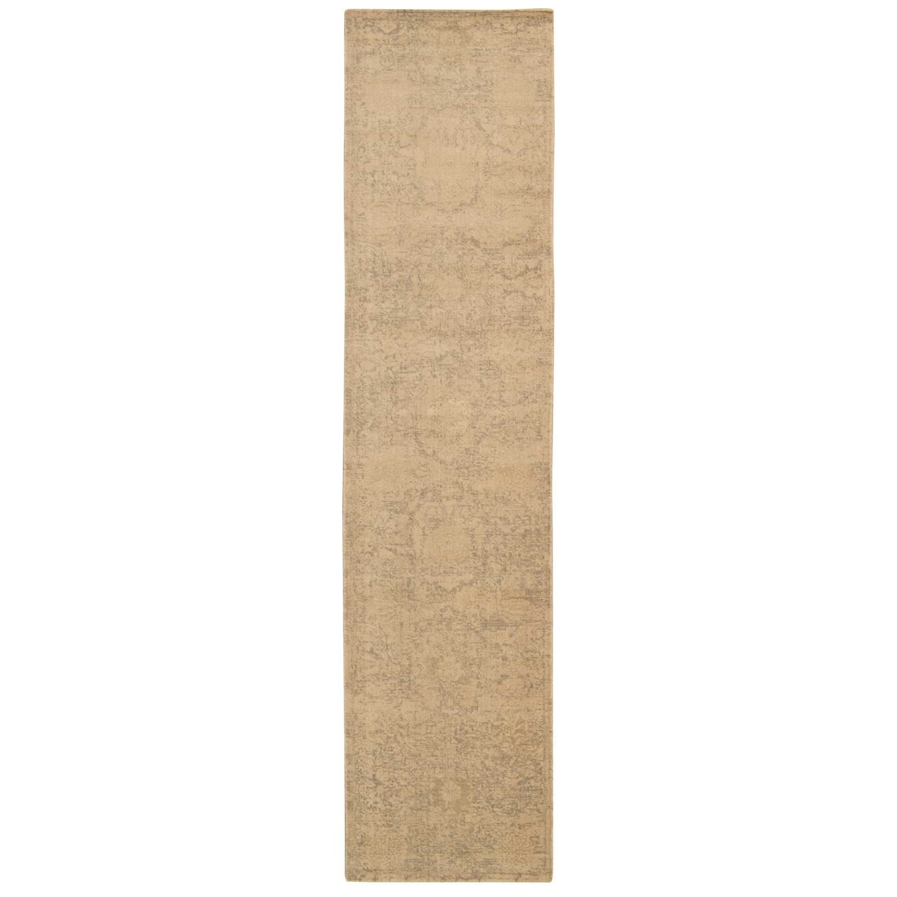 """Silken Allure 2'5"""" x 10' Sand Runner Rug by Nourison at Home Collections Furniture"""