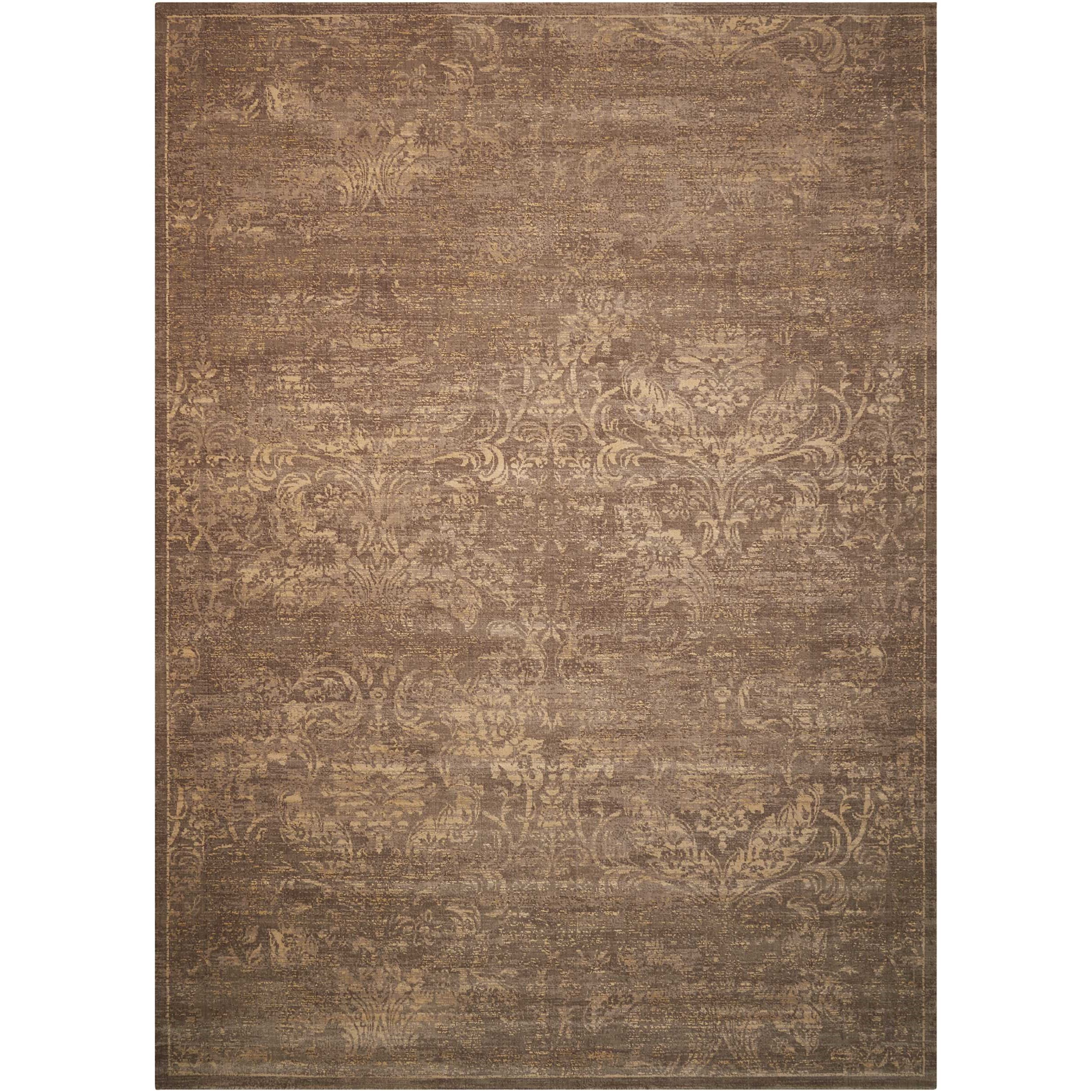 "Silken Allure 9'9"" x 13'9"" Mushroom Rectangle Rug by Nourison at Home Collections Furniture"