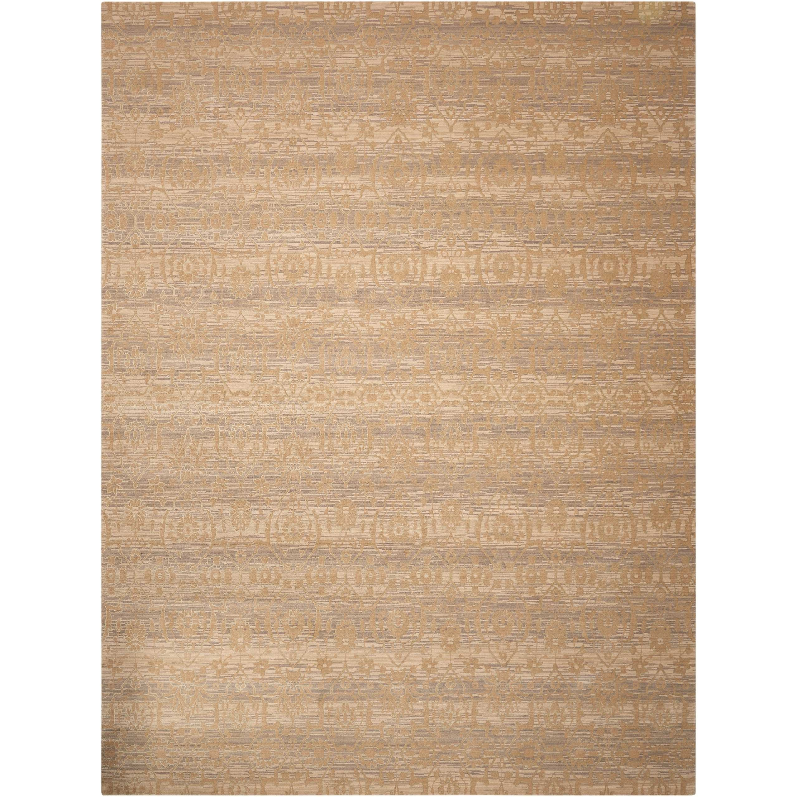 """Silken Allure 7'9"""" x 9'9"""" Sand Rectangle Rug by Nourison at Home Collections Furniture"""