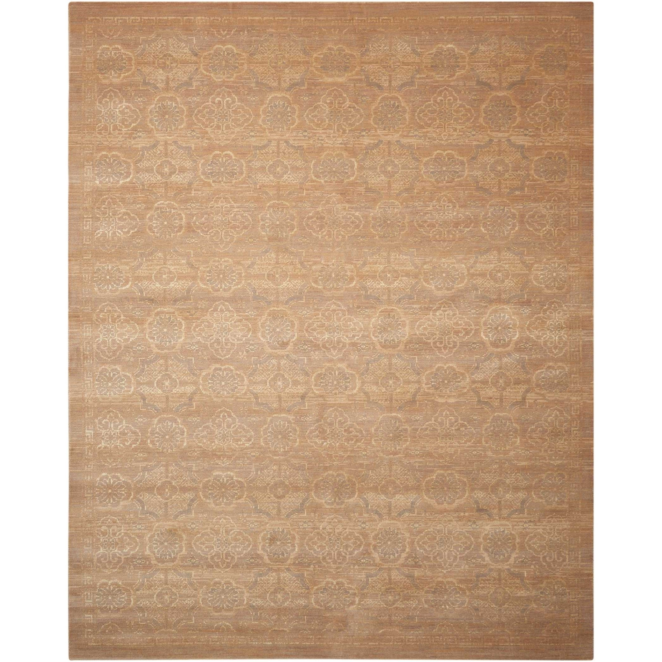 """Silken Allure 8'6"""" x 11'6"""" Beige Rectangle Rug by Nourison at Home Collections Furniture"""