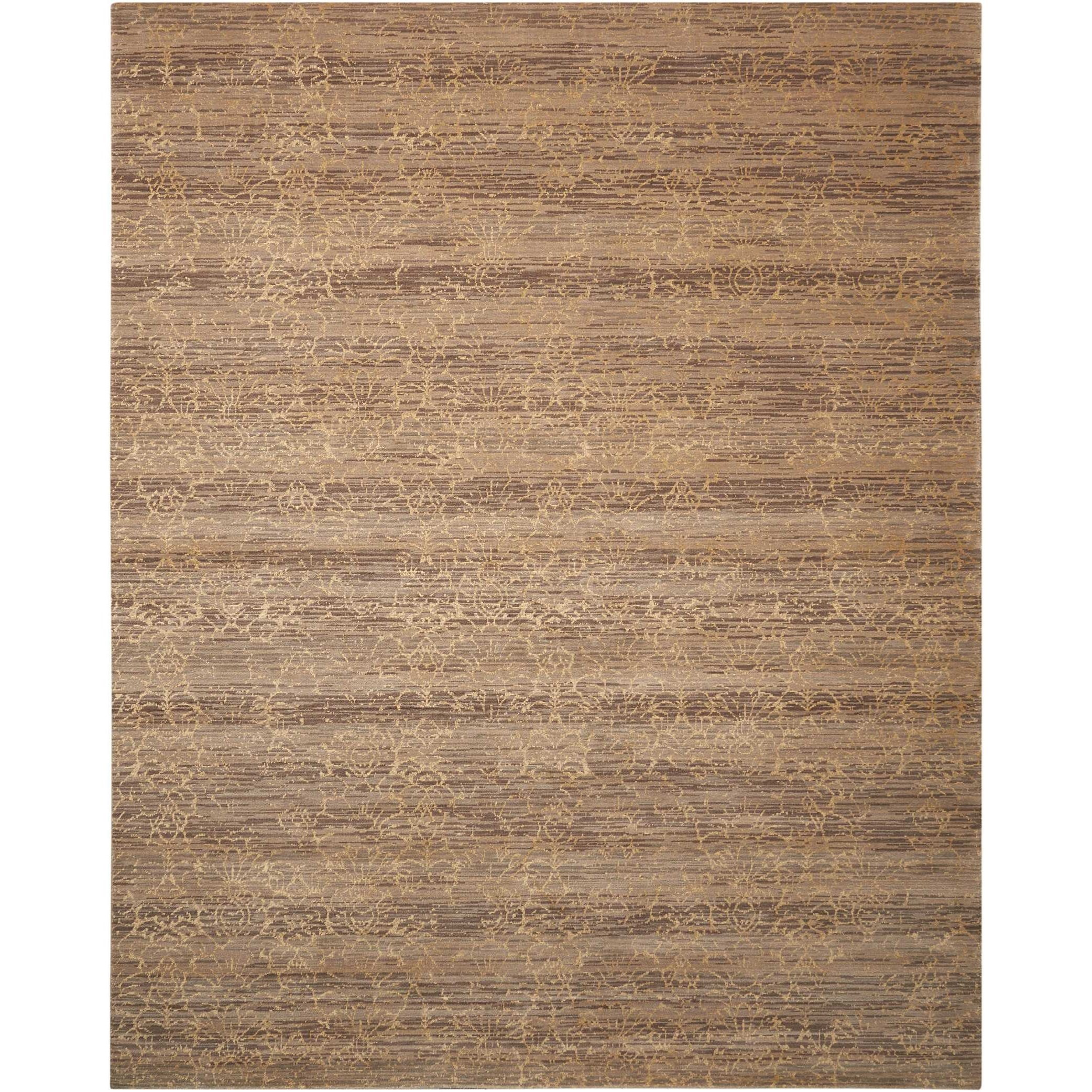 "Silken Allure 9'9"" x 13' Latte Rectangle Rug by Nourison at Adcock Furniture"