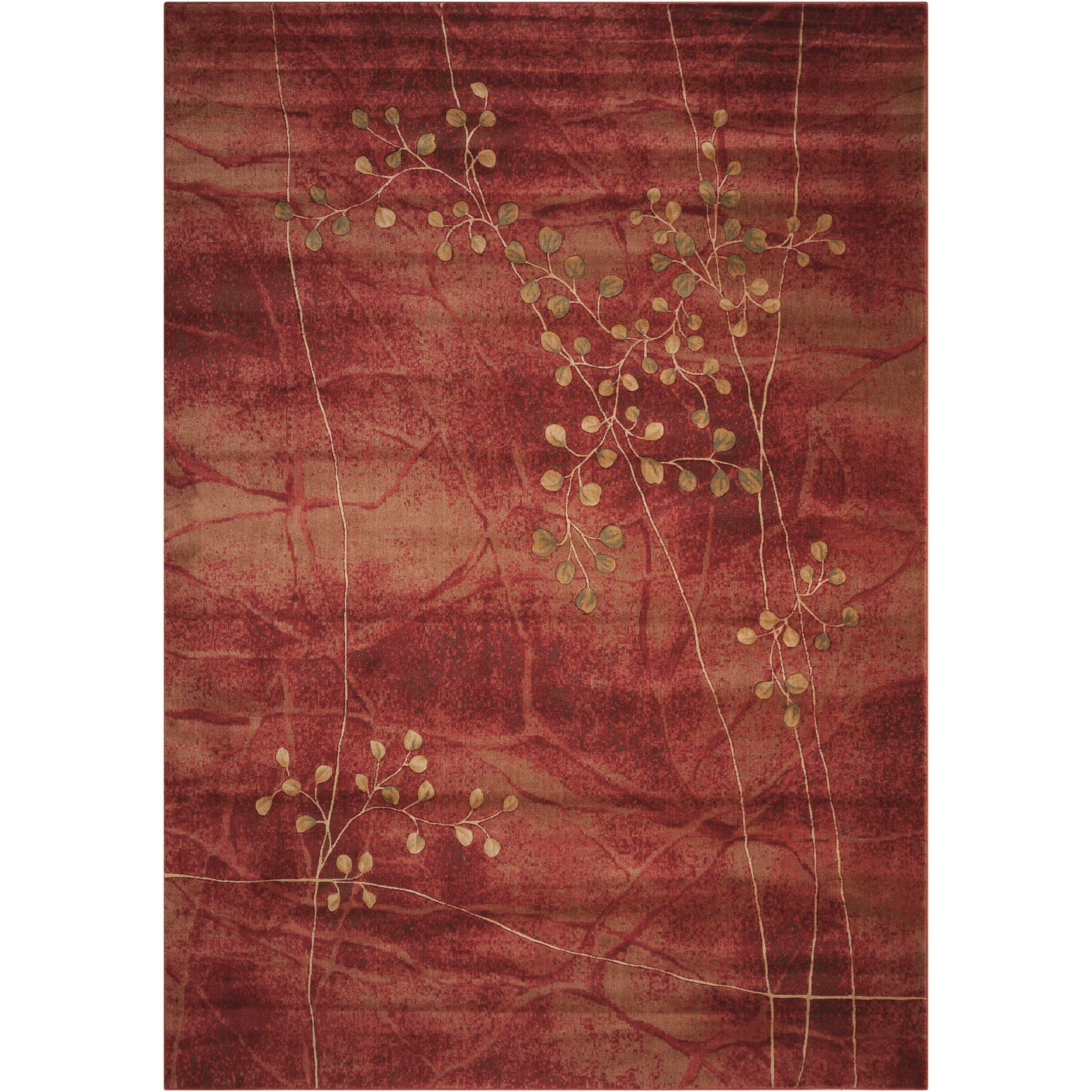 "Somerset 5'3"" x 7'5"" Flame Rectangle Rug by Nourison at Story & Lee Furniture"