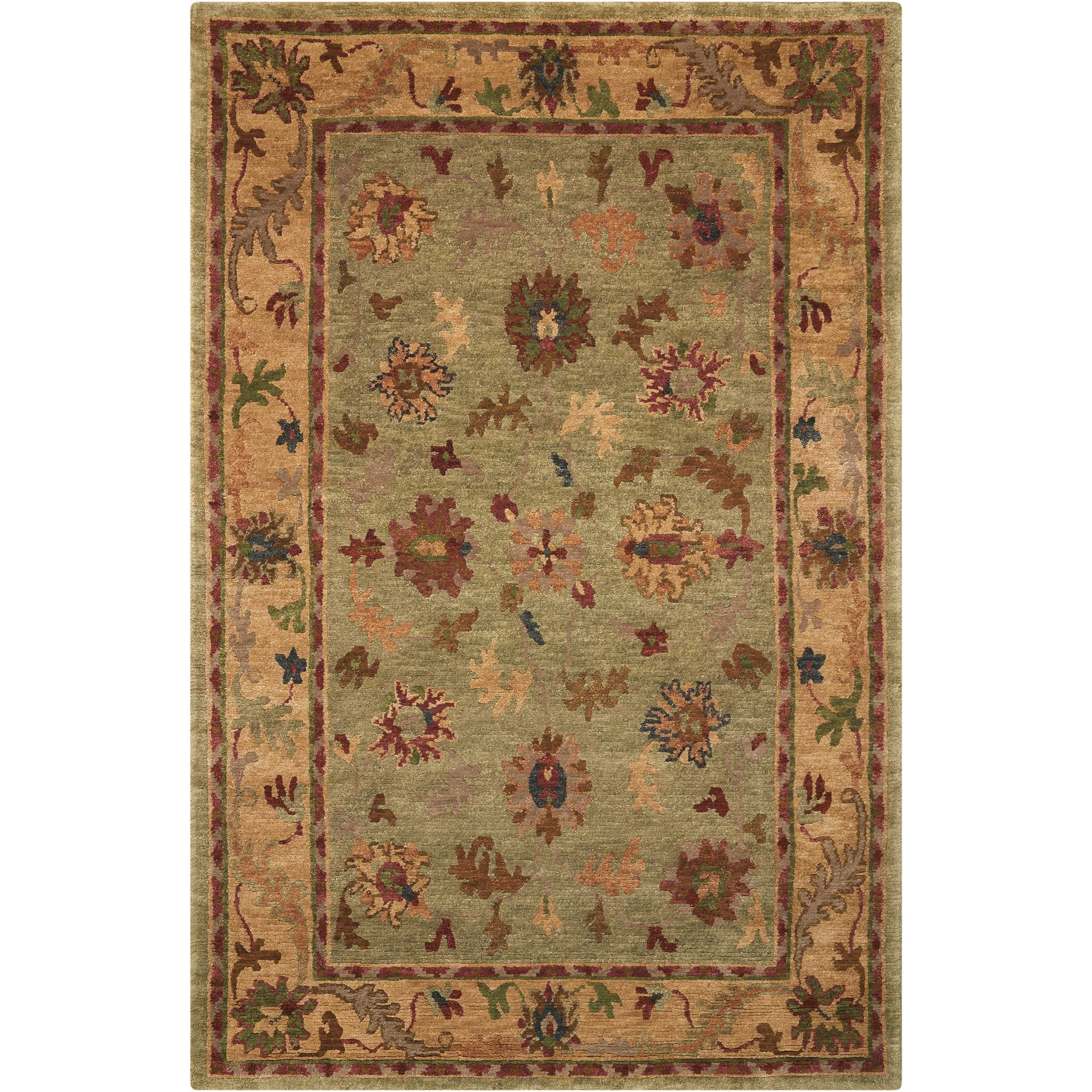"""Tahoe 8'6"""" x 11'6"""" Green Rectangle Rug by Nourison at Sprintz Furniture"""