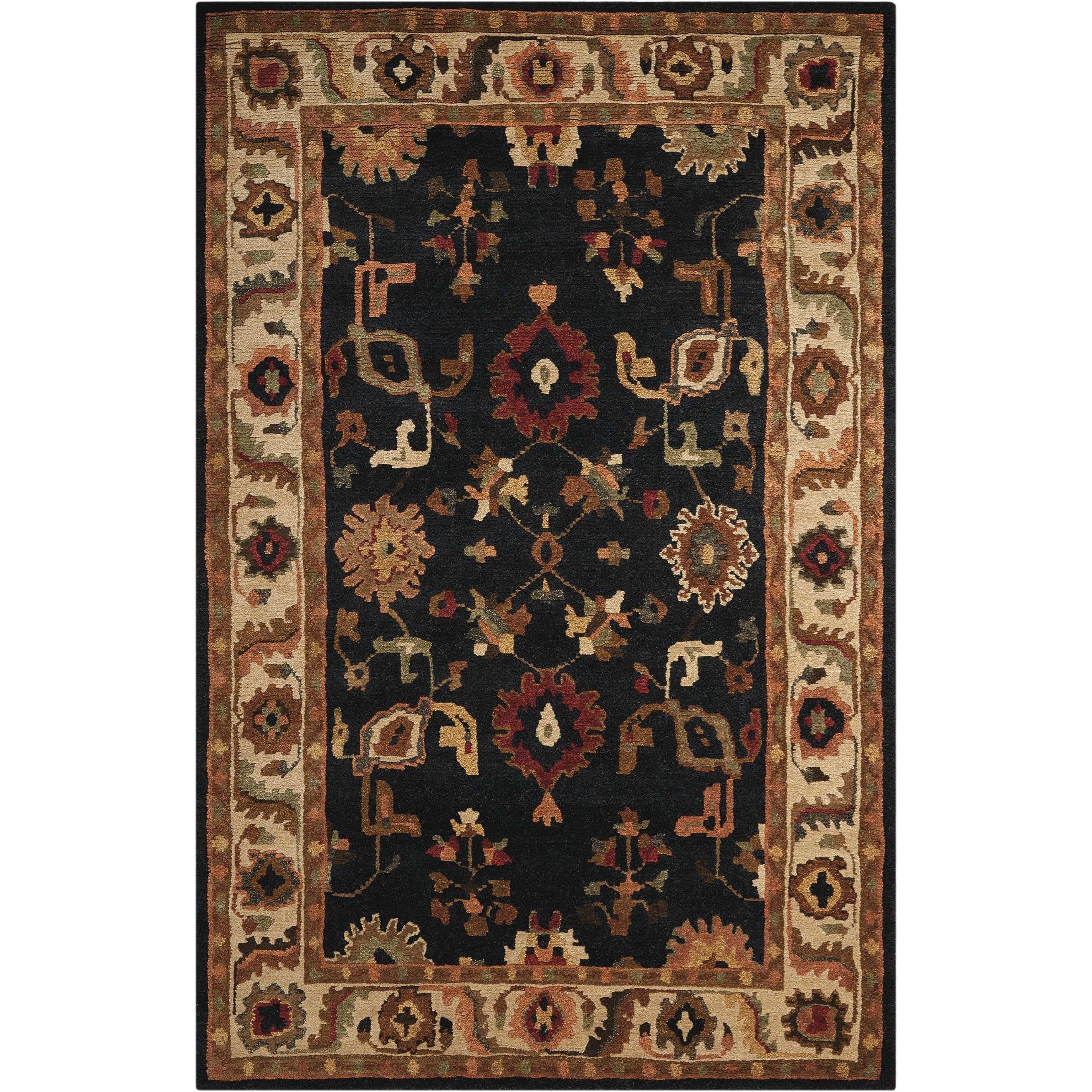 "Tahoe 7'9"" x 9'9"" Black Rectangle Rug by Nourison at Home Collections Furniture"