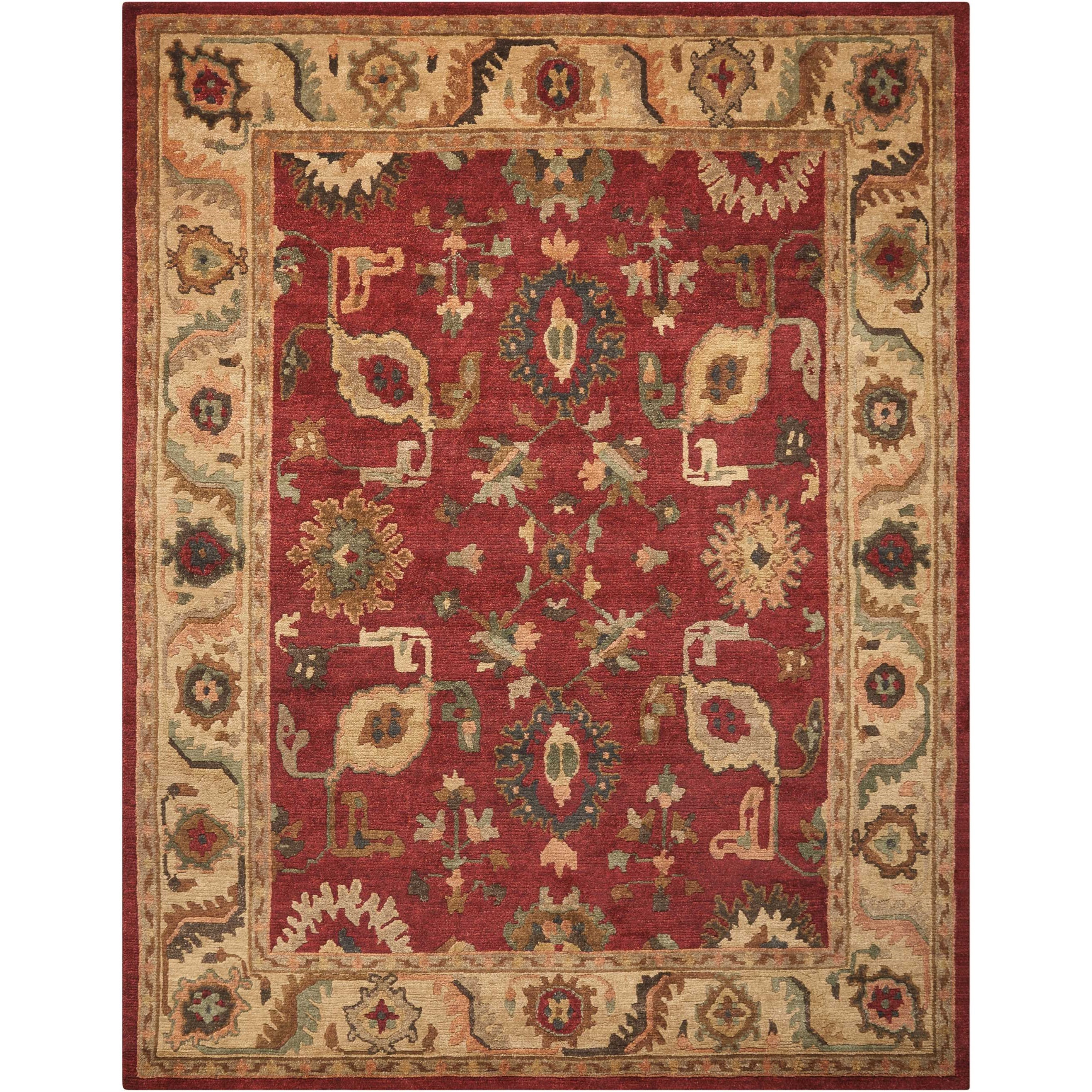 "Tahoe 8'6"" x 11'6"" Red Rectangle Rug by Nourison at Home Collections Furniture"