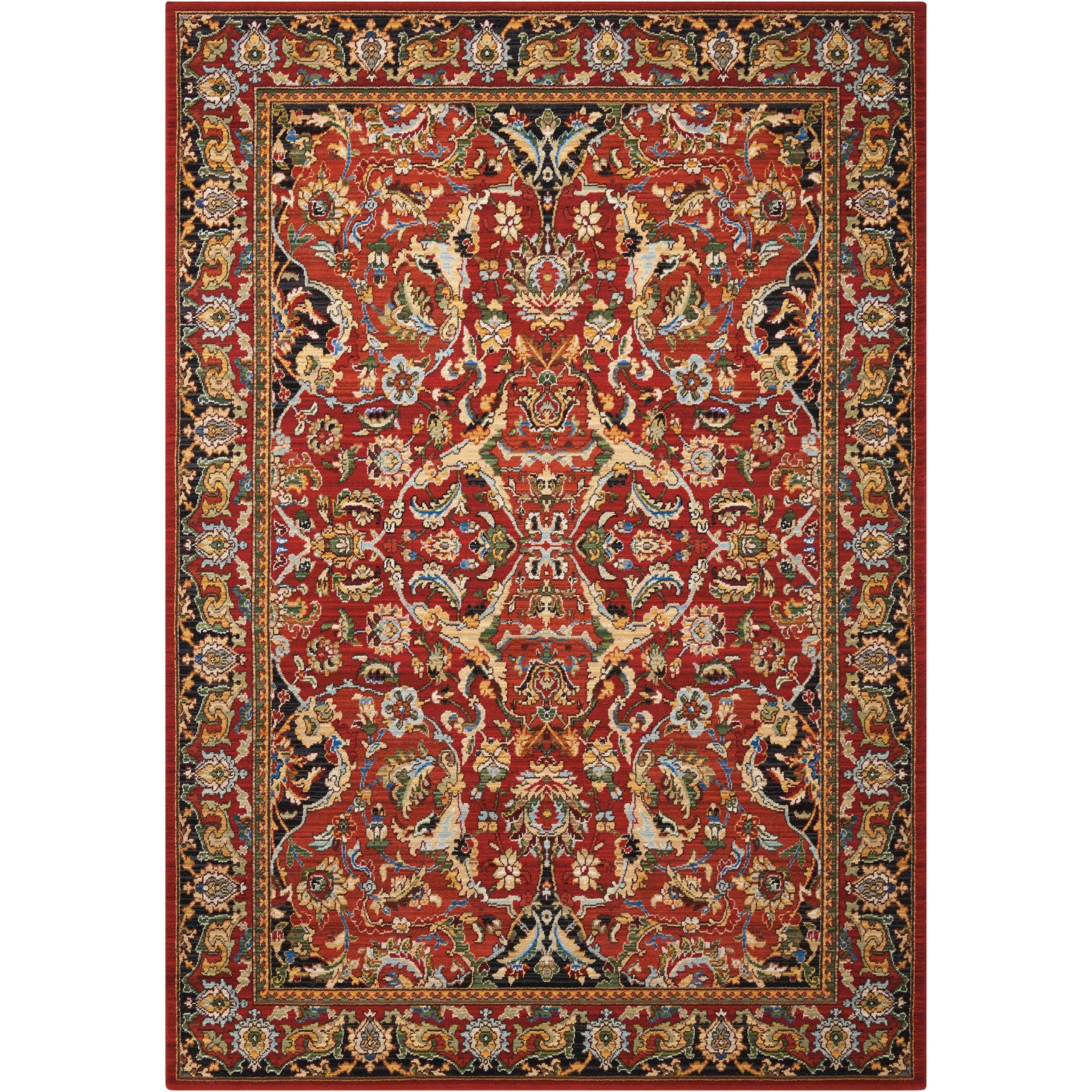 Timeless 12' x 15' Red Rectangle Rug by Nourison at Home Collections Furniture