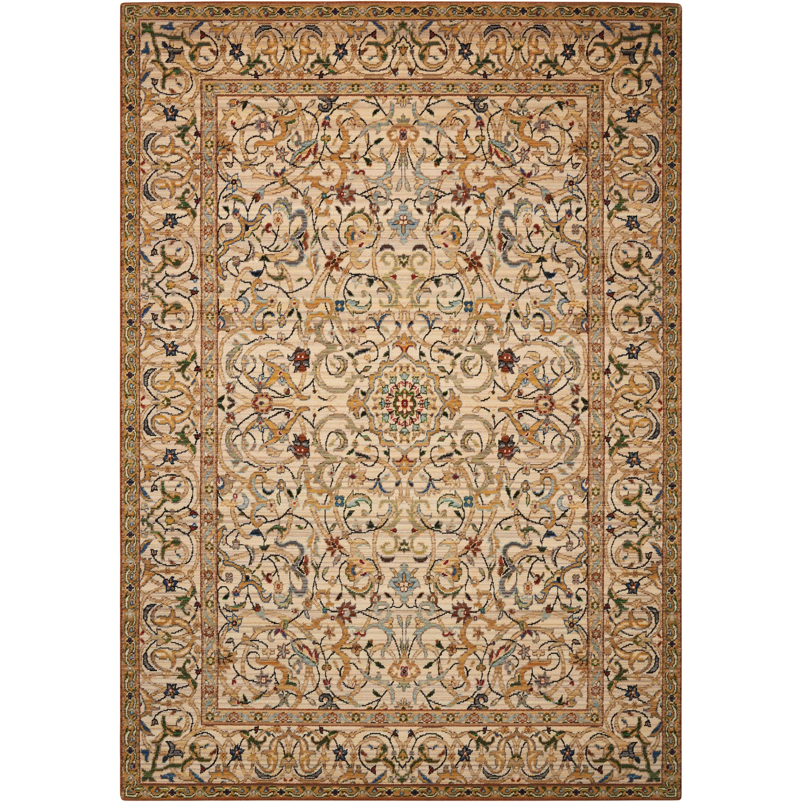 """Timeless 5'6"""" x 8' Copper Rectangle Rug by Nourison at Home Collections Furniture"""