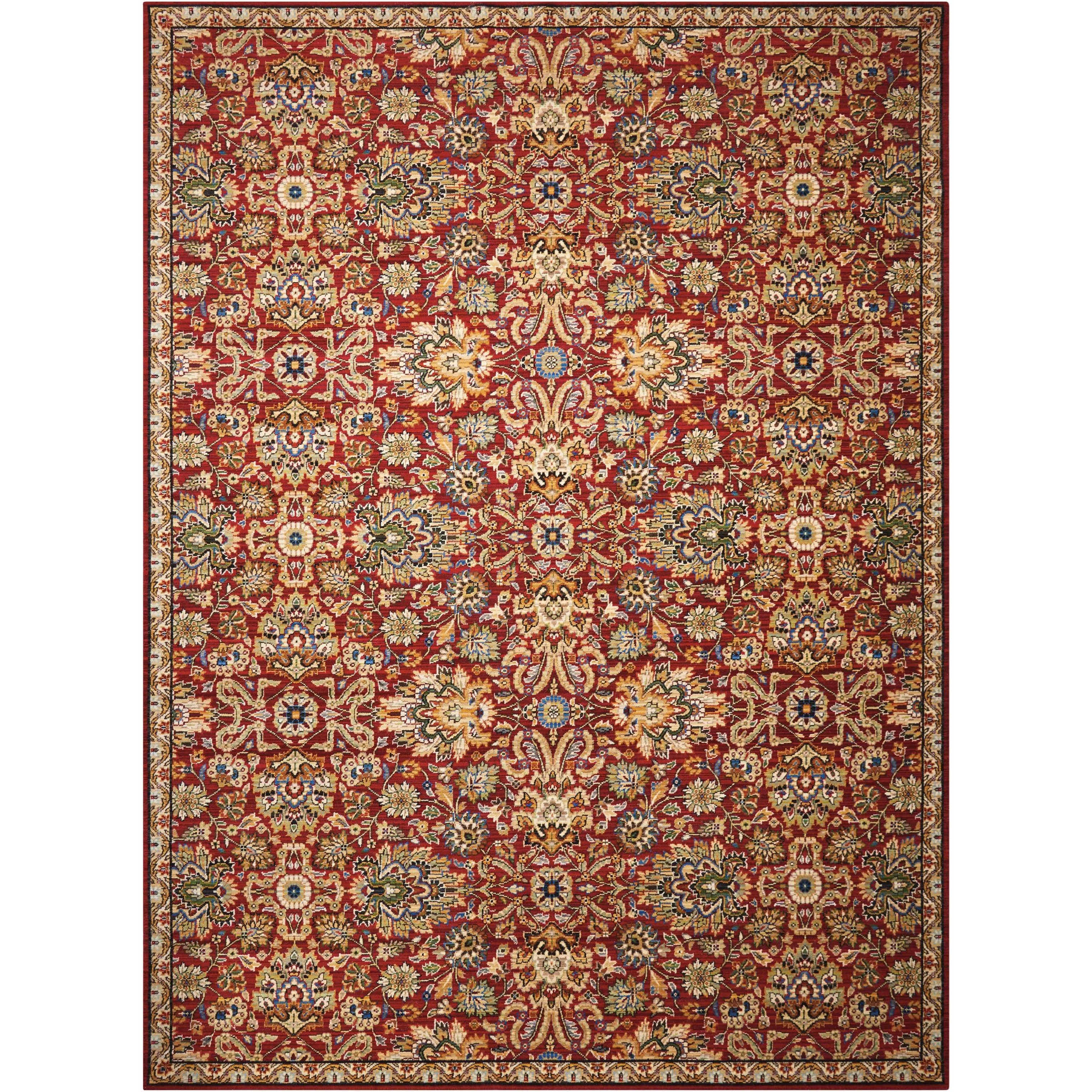 """Timeless 8'6"""" x 11'6"""" Red Rectangle Rug by Nourison at Home Collections Furniture"""