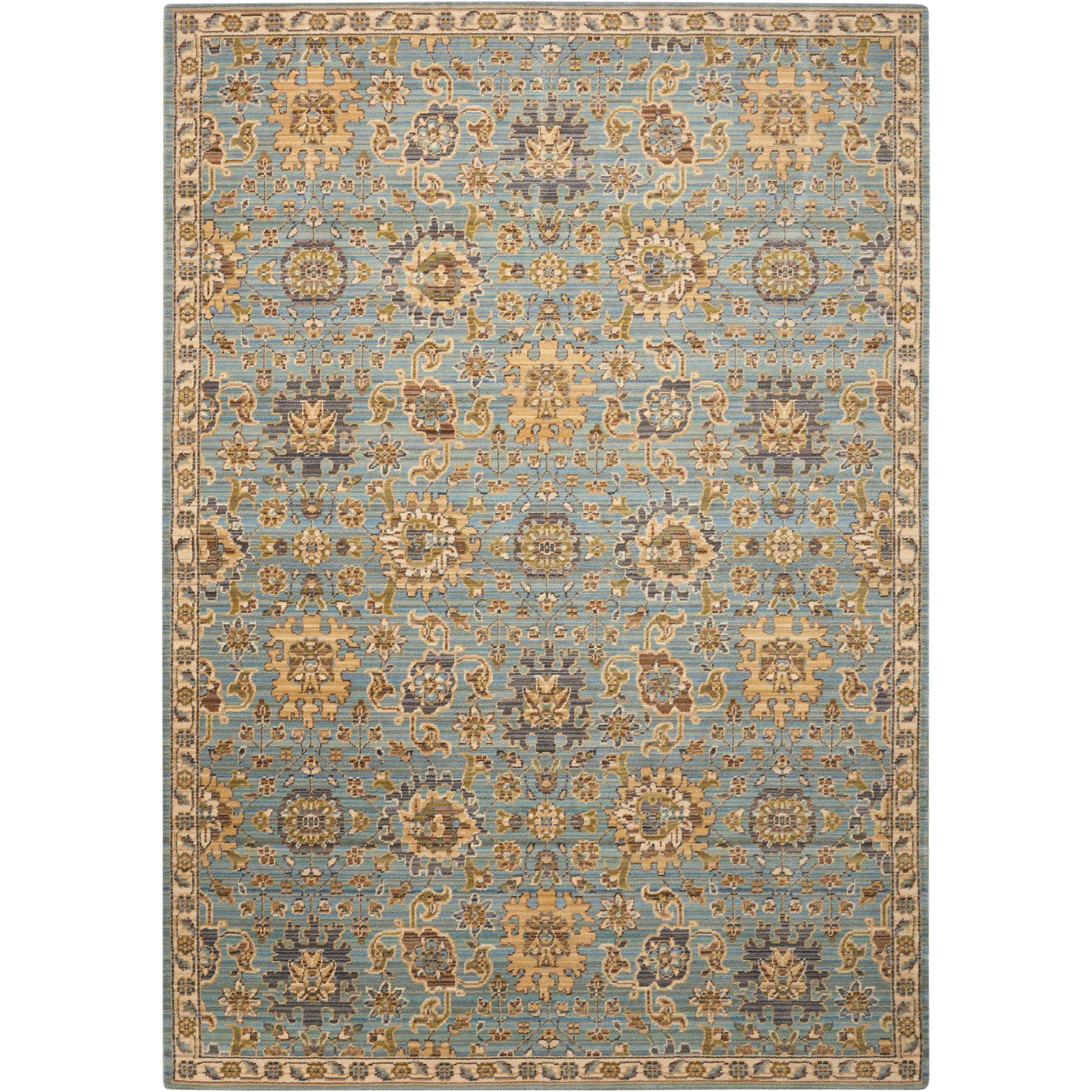 Timeless 12' x 15' Light Blue Rectangle Rug by Nourison at Home Collections Furniture