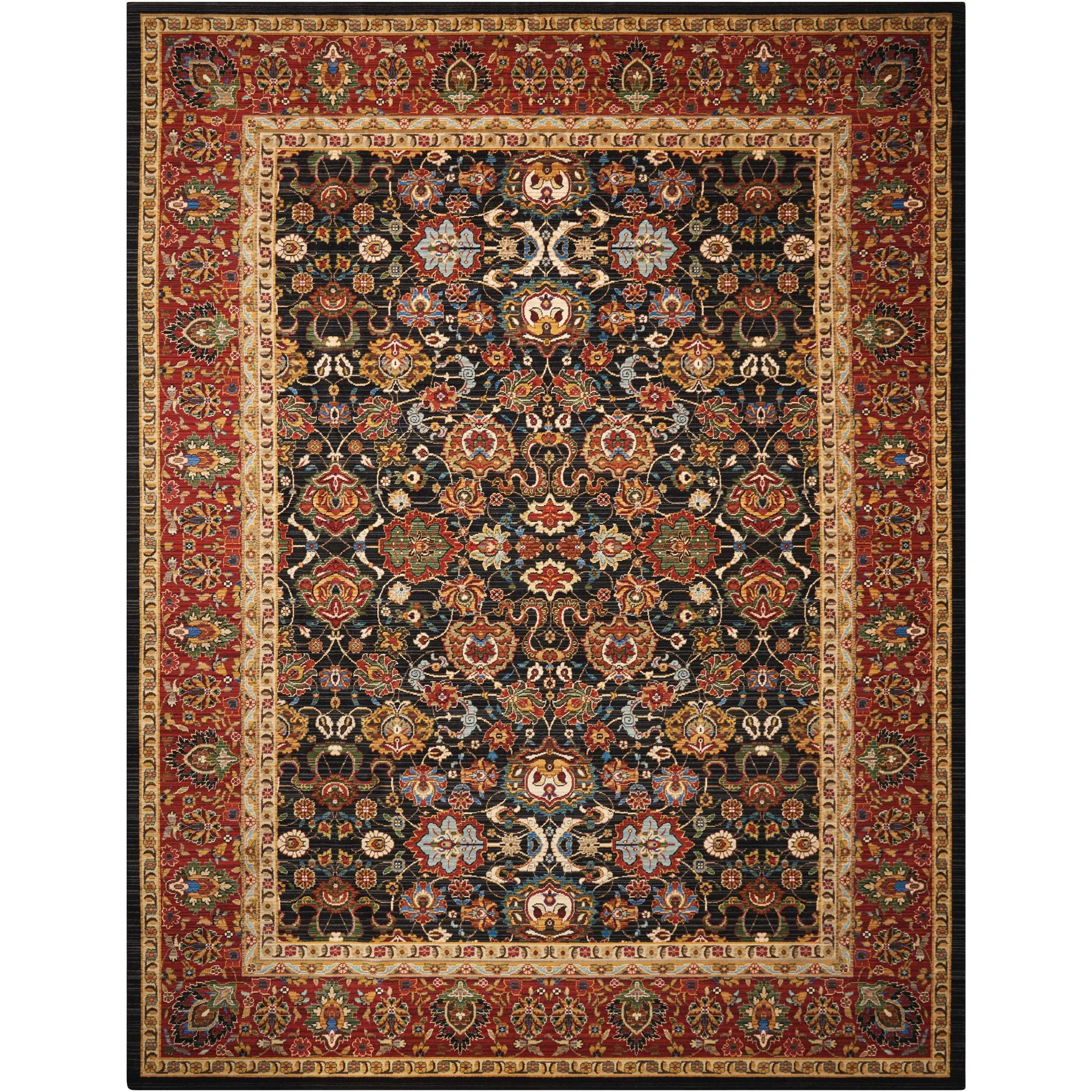 """Timeless 5'6"""" x 8' Navy Rectangle Rug by Nourison at Home Collections Furniture"""