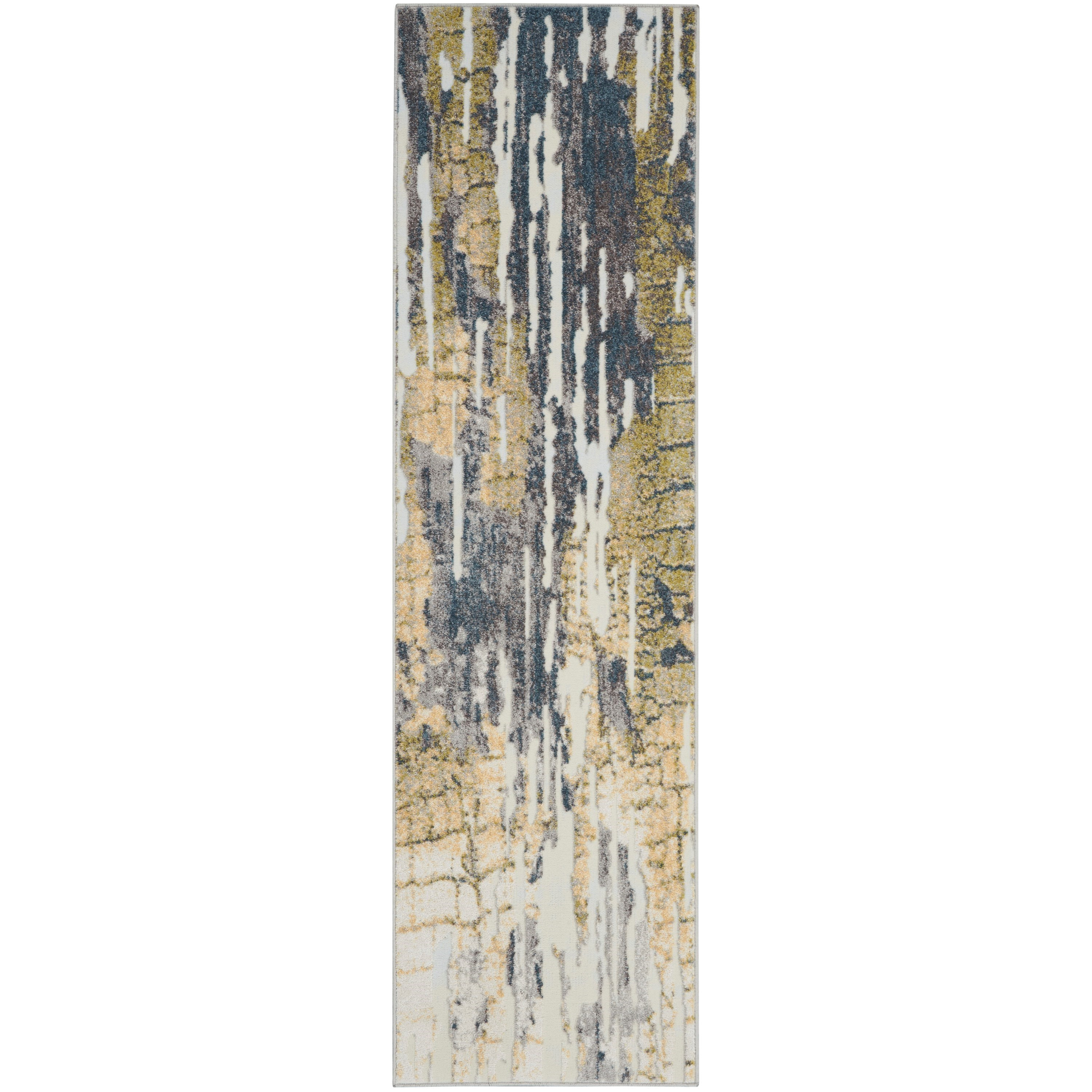Trance 2020 8' Runner Rug by Nourison at Home Collections Furniture