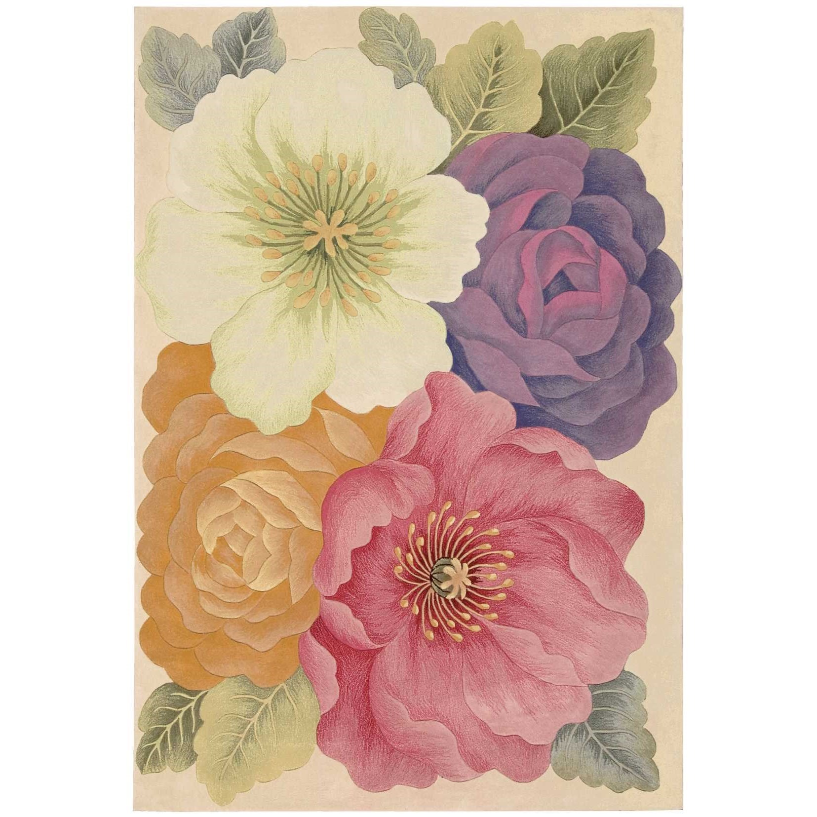 """Tropics 7'6"""" x 9'6"""" Multicolor Rectangle Rug by Nourison at Home Collections Furniture"""