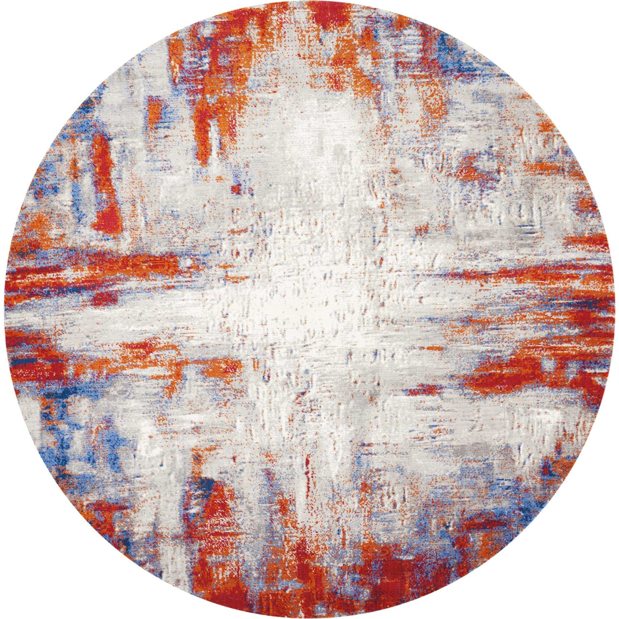 Twilight 8' Round Large Rug by Nourison at Home Collections Furniture
