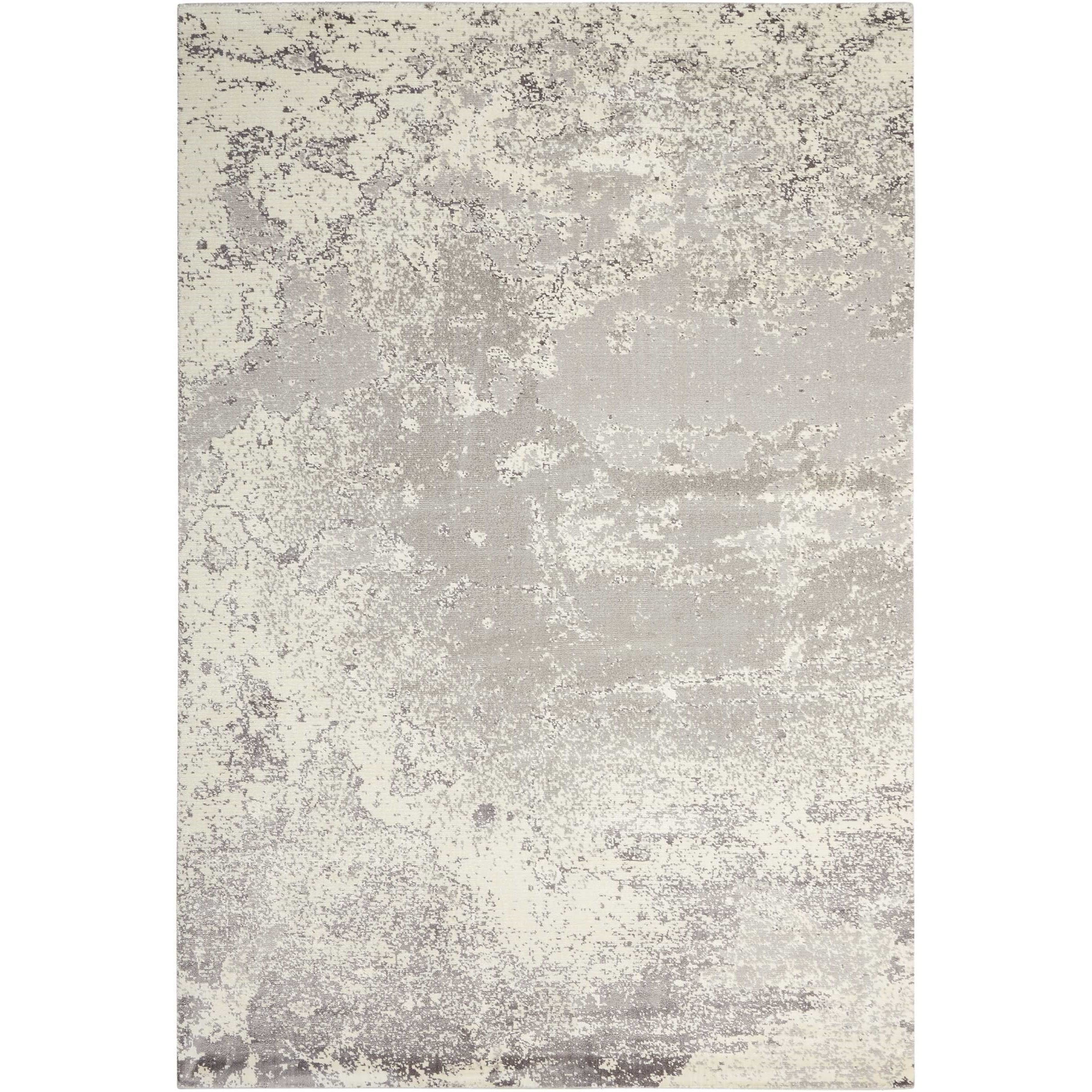 """Twilight1 7'9"""" X 9'9"""" Bone Rug by Nourison at Home Collections Furniture"""