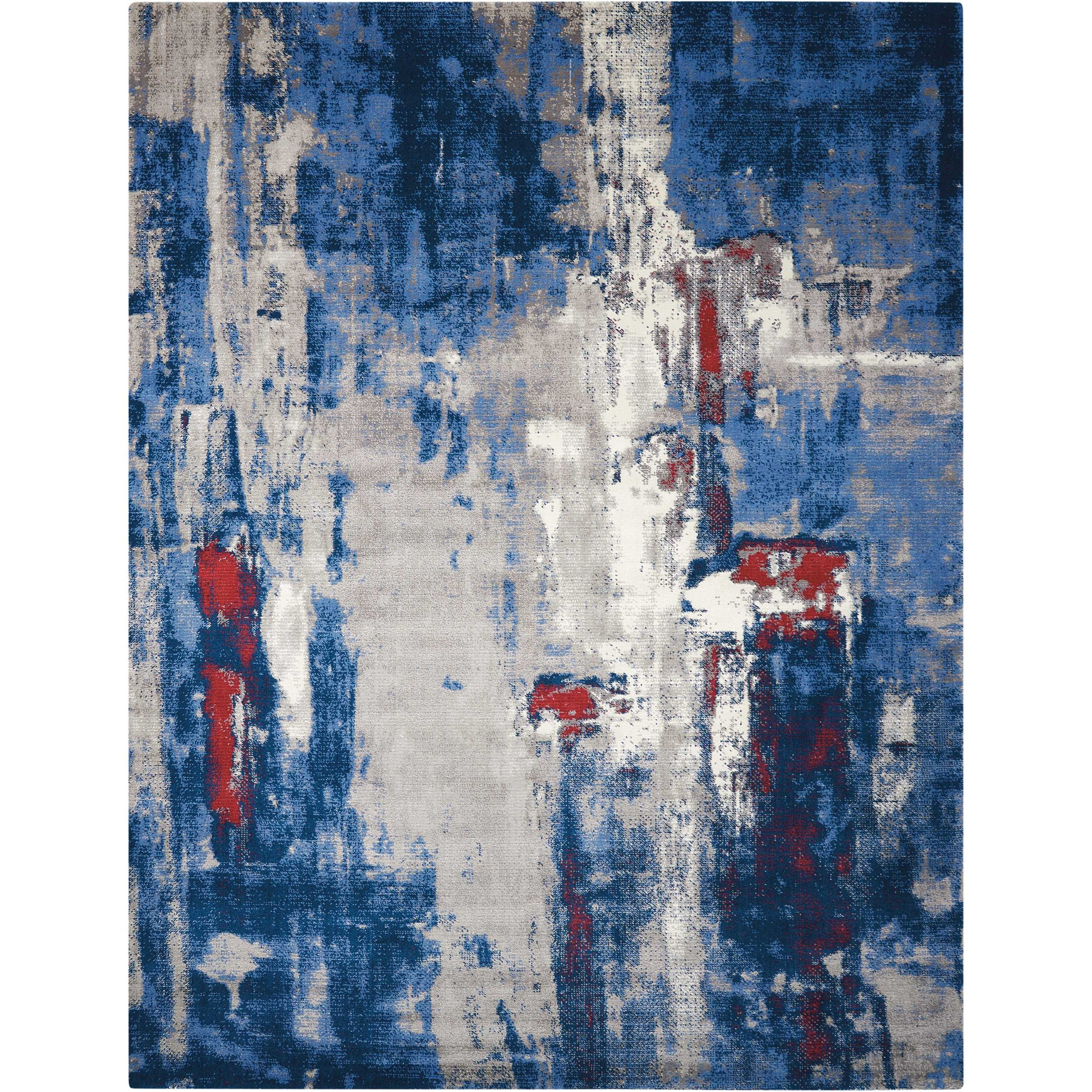"""Twilight1 7'9"""" X 9'9"""" Gry/Bl Rug by Nourison at Home Collections Furniture"""