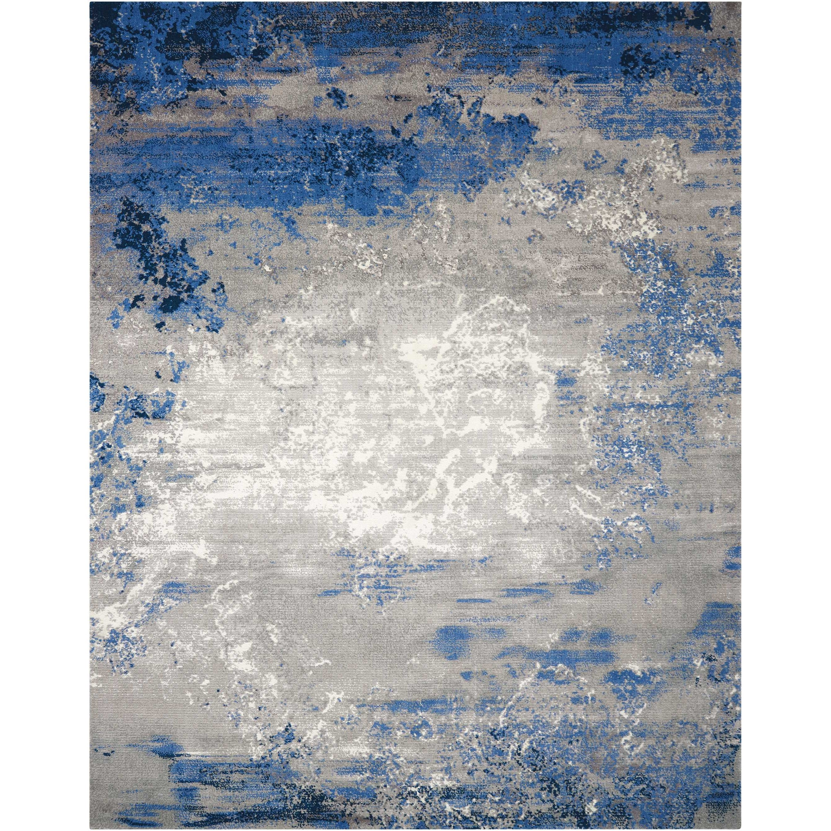 "Twilight1 7'9"" X 9'9"" Blue/Grey Rug by Nourison at Home Collections Furniture"
