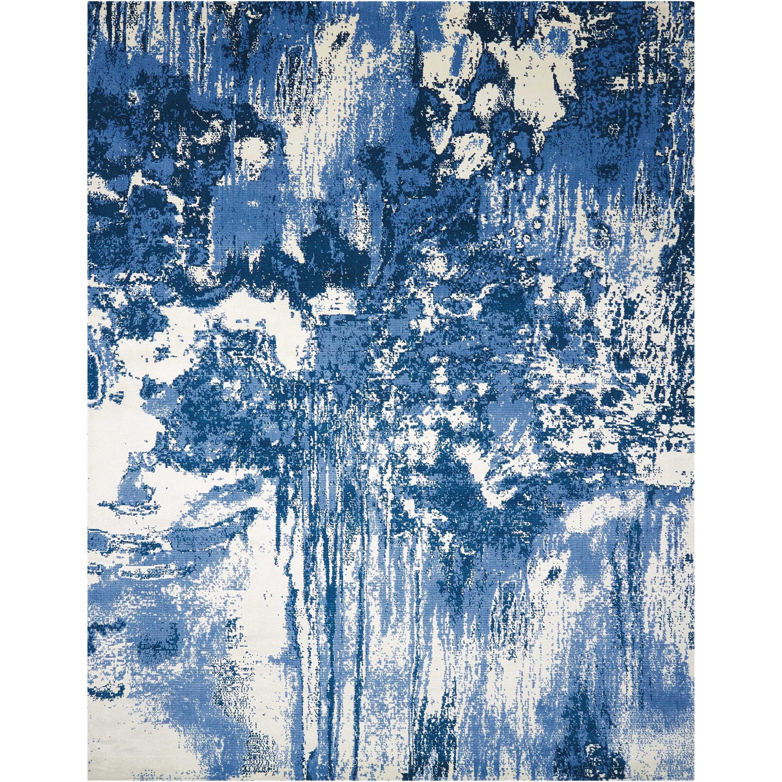 Twilight1 12' X 15' Blue/Ivory Rug by Nourison at Home Collections Furniture