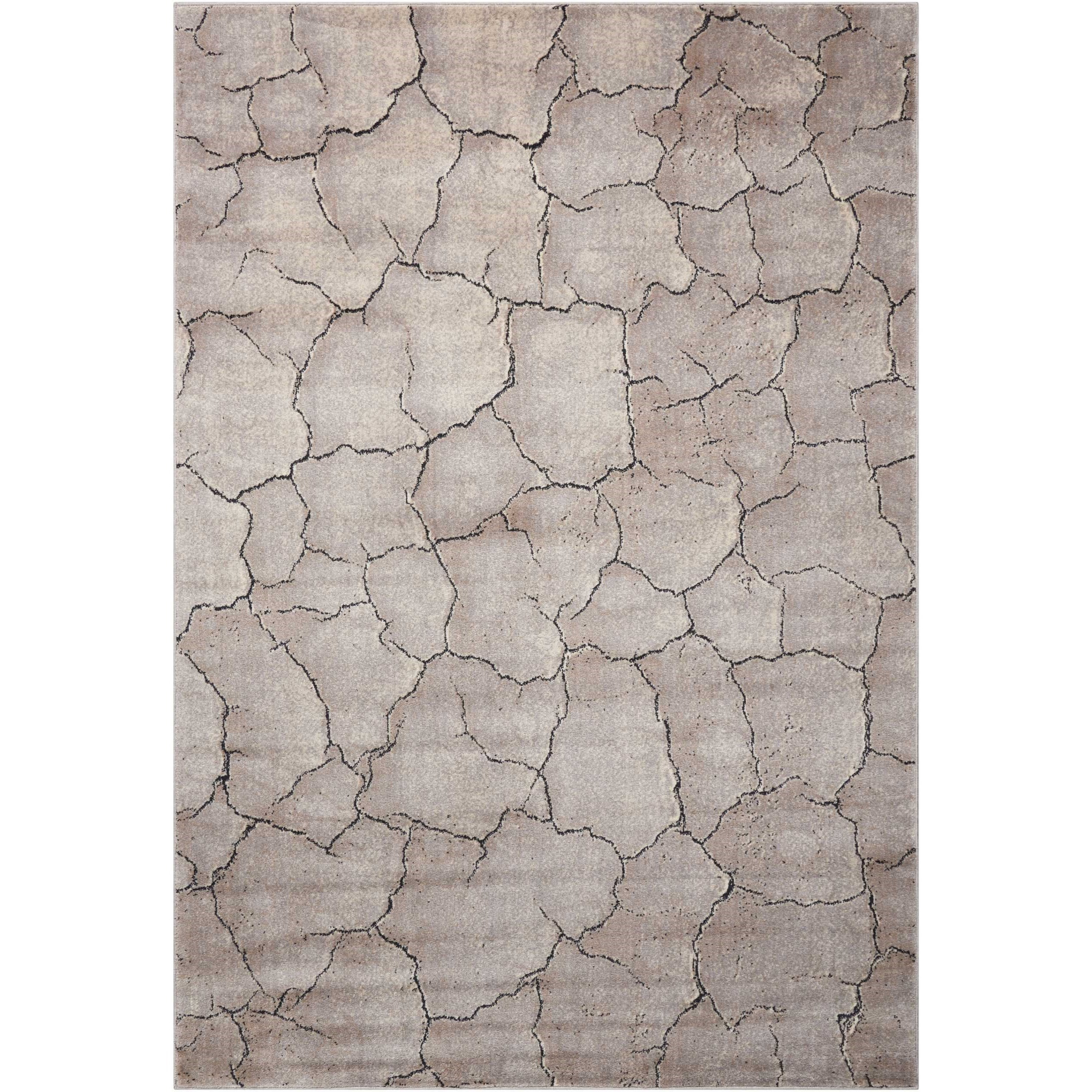 """Utopia 9'6"""" x 13' Granite Rectangle Rug by Nourison at Home Collections Furniture"""