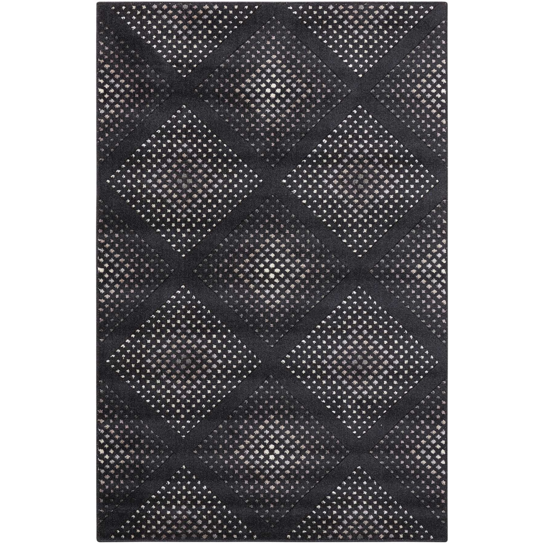 """Utopia 2'6"""" x 4'2"""" Onyx Rectangle Rug by Nourison at Home Collections Furniture"""