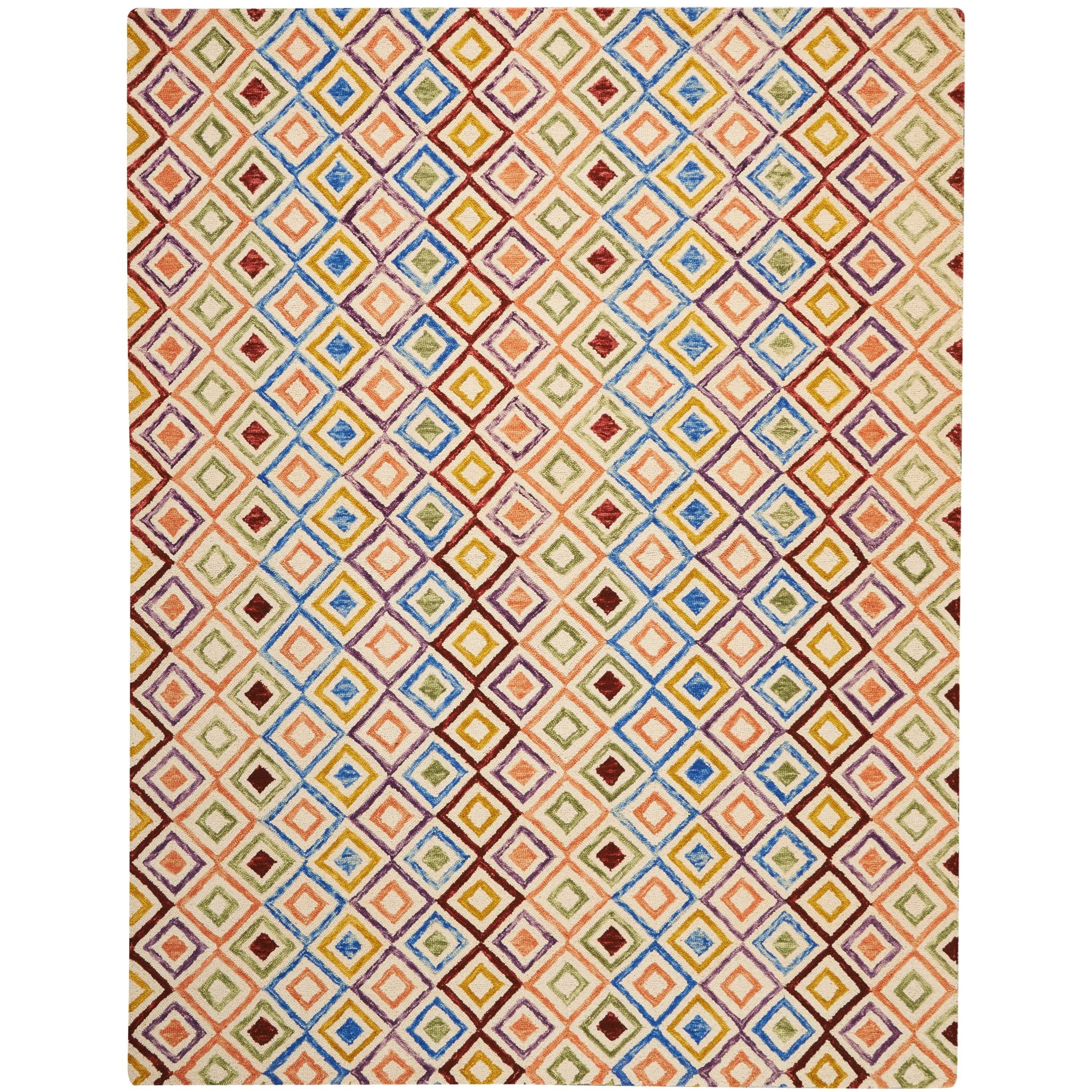 """Vibrant 8'X10'6""""  Rug by Nourison at Home Collections Furniture"""