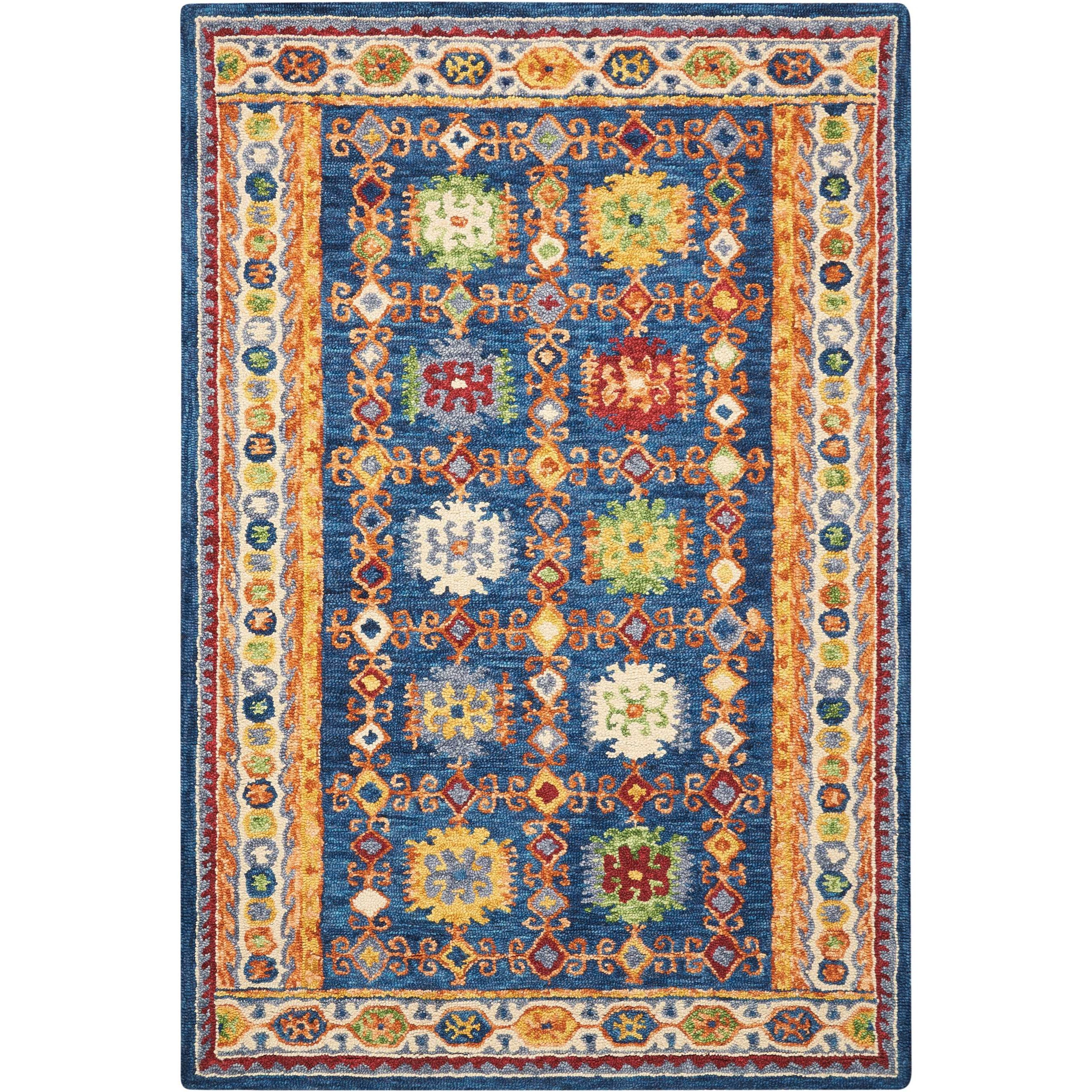 Vibrant 4'X6'  Rug by Nourison at Home Collections Furniture