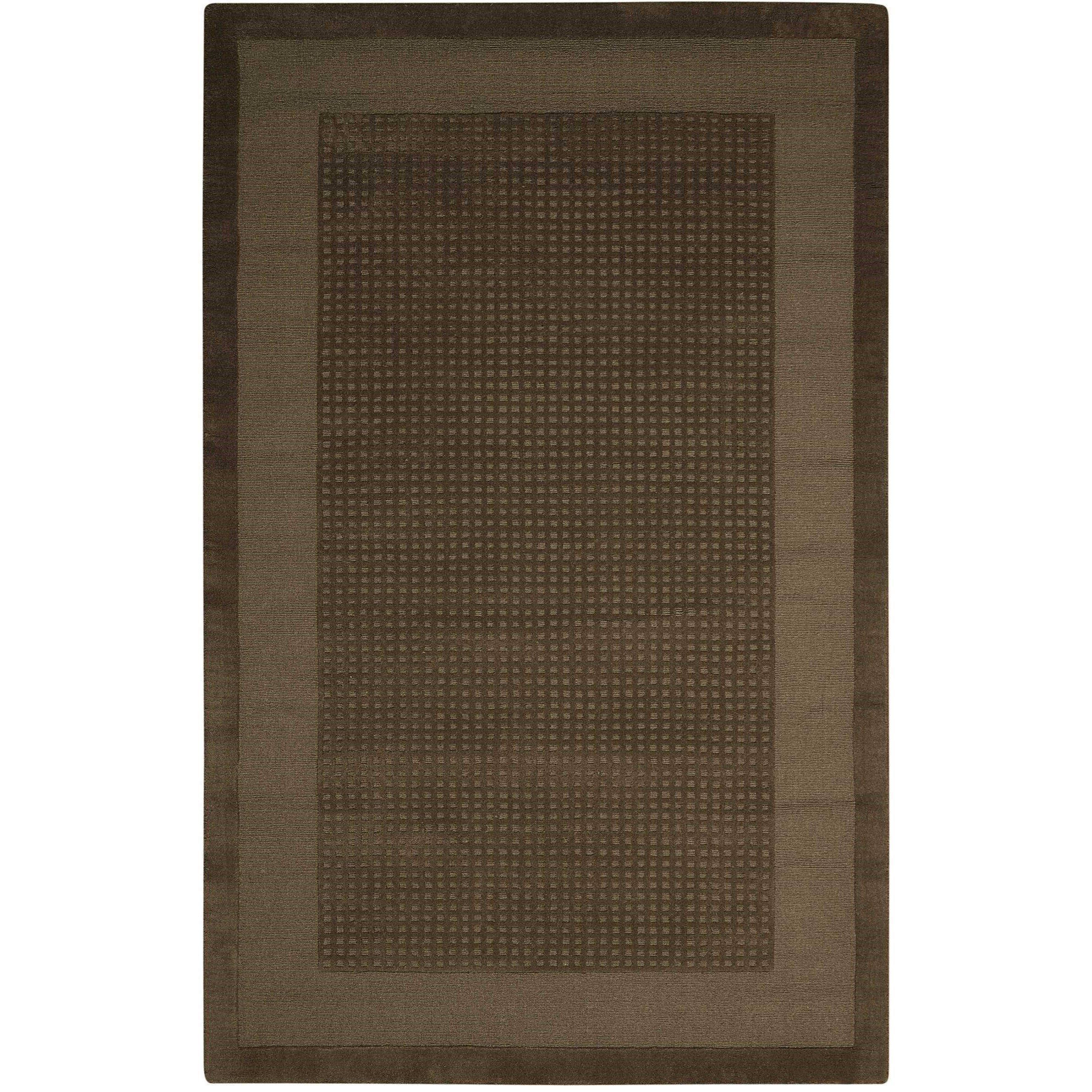 """Westport 2'6"""" x 4' Mocha Rectangle Rug by Nourison at Home Collections Furniture"""