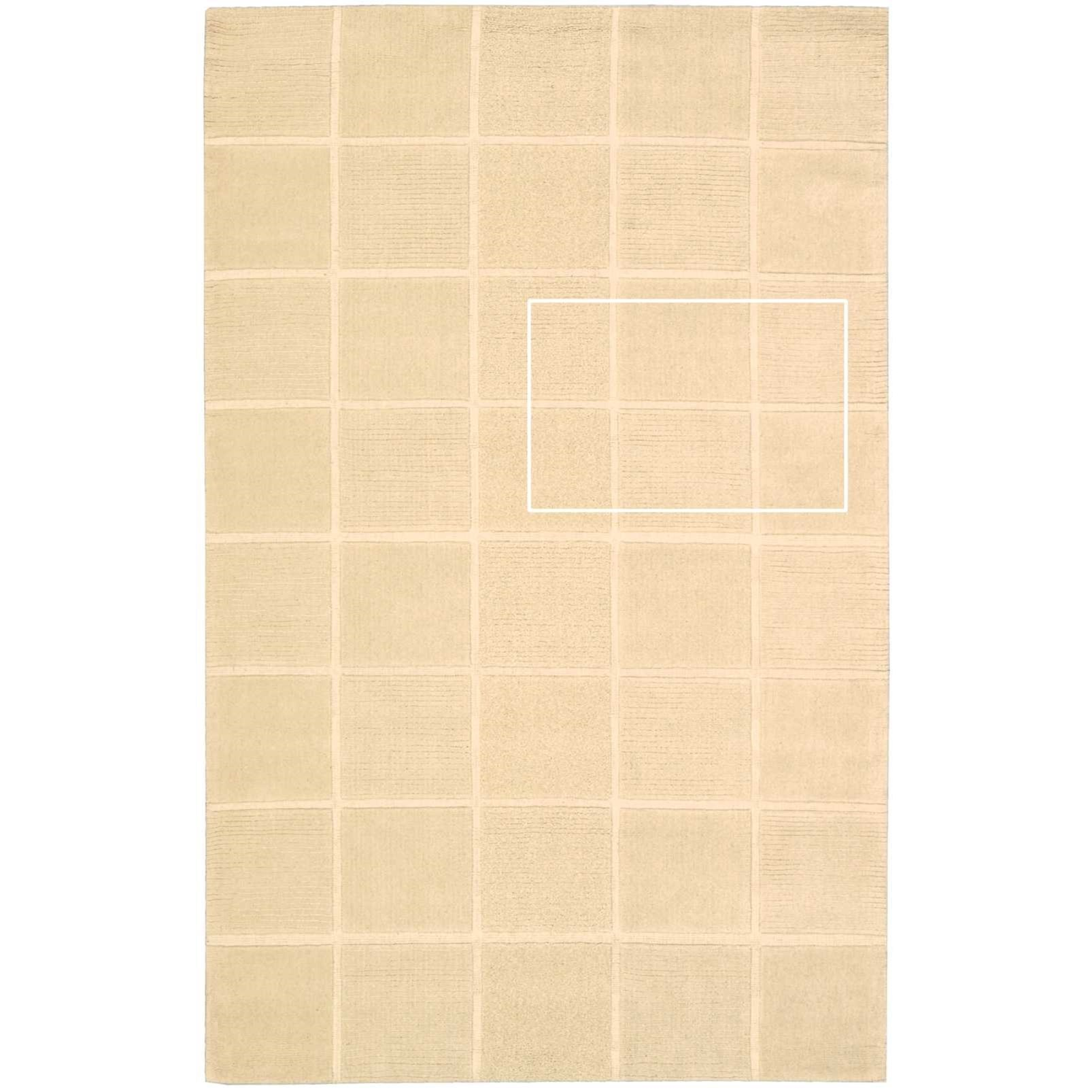 """Westport 2'6"""" x 4' Ivory Rectangle Rug by Nourison at Home Collections Furniture"""