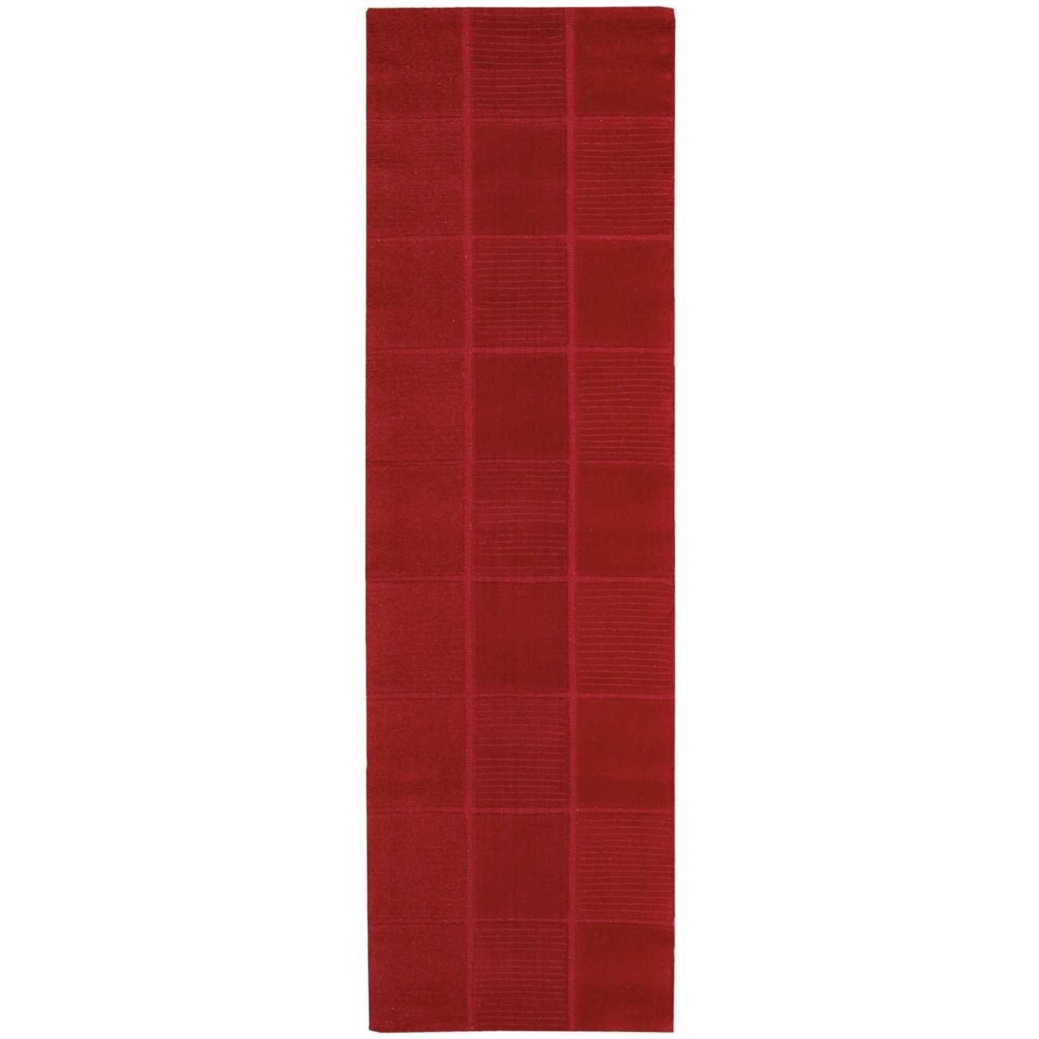 "Westport 2'3"" x 7'6"" Red Runner Rug by Nourison at Home Collections Furniture"