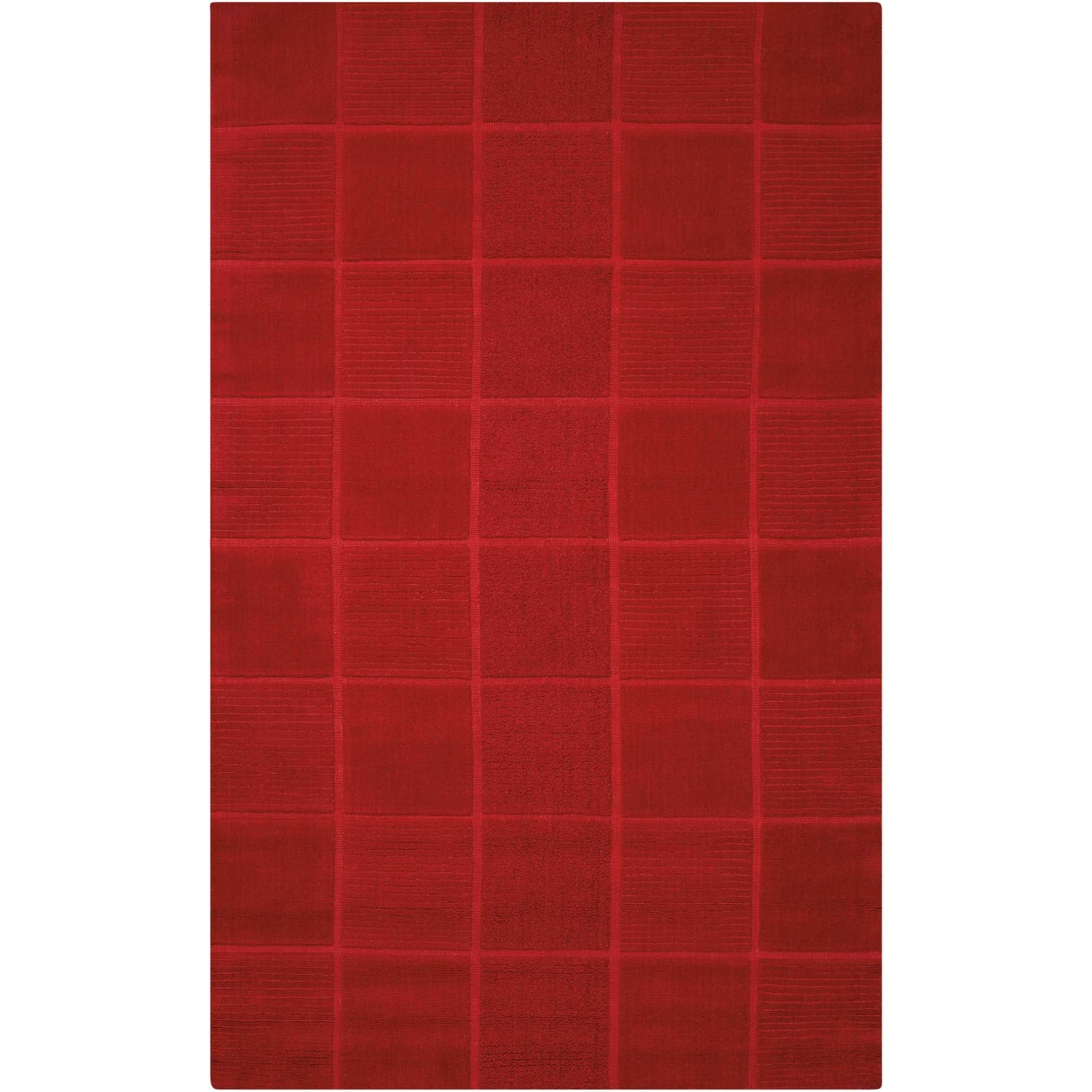 """Westport 2'6"""" x 4' Red Rectangle Rug by Nourison at Home Collections Furniture"""