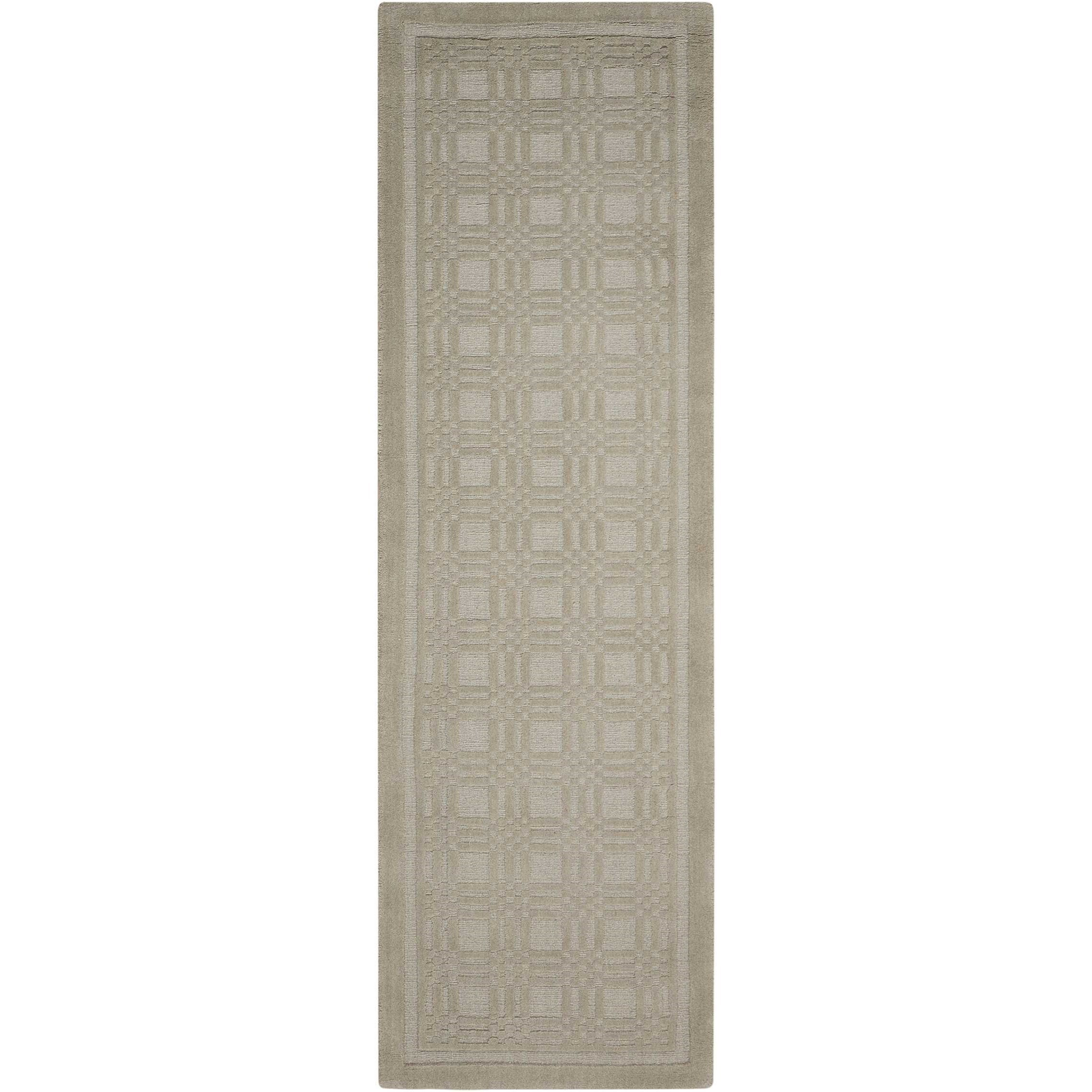 "Westport 2'3"" x 7'6"" Grey Runner Rug by Nourison at Home Collections Furniture"