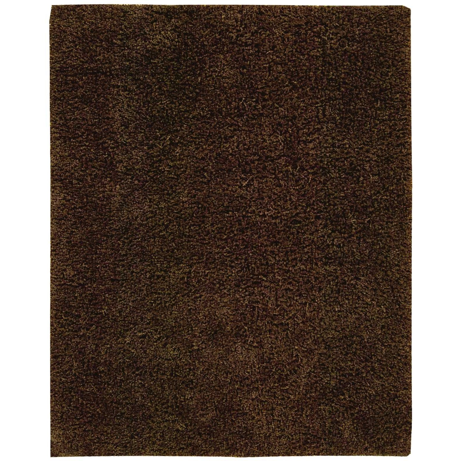 """Zen 7'6"""" x 9'6"""" Espresso Rectangle Rug by Nourison at Home Collections Furniture"""