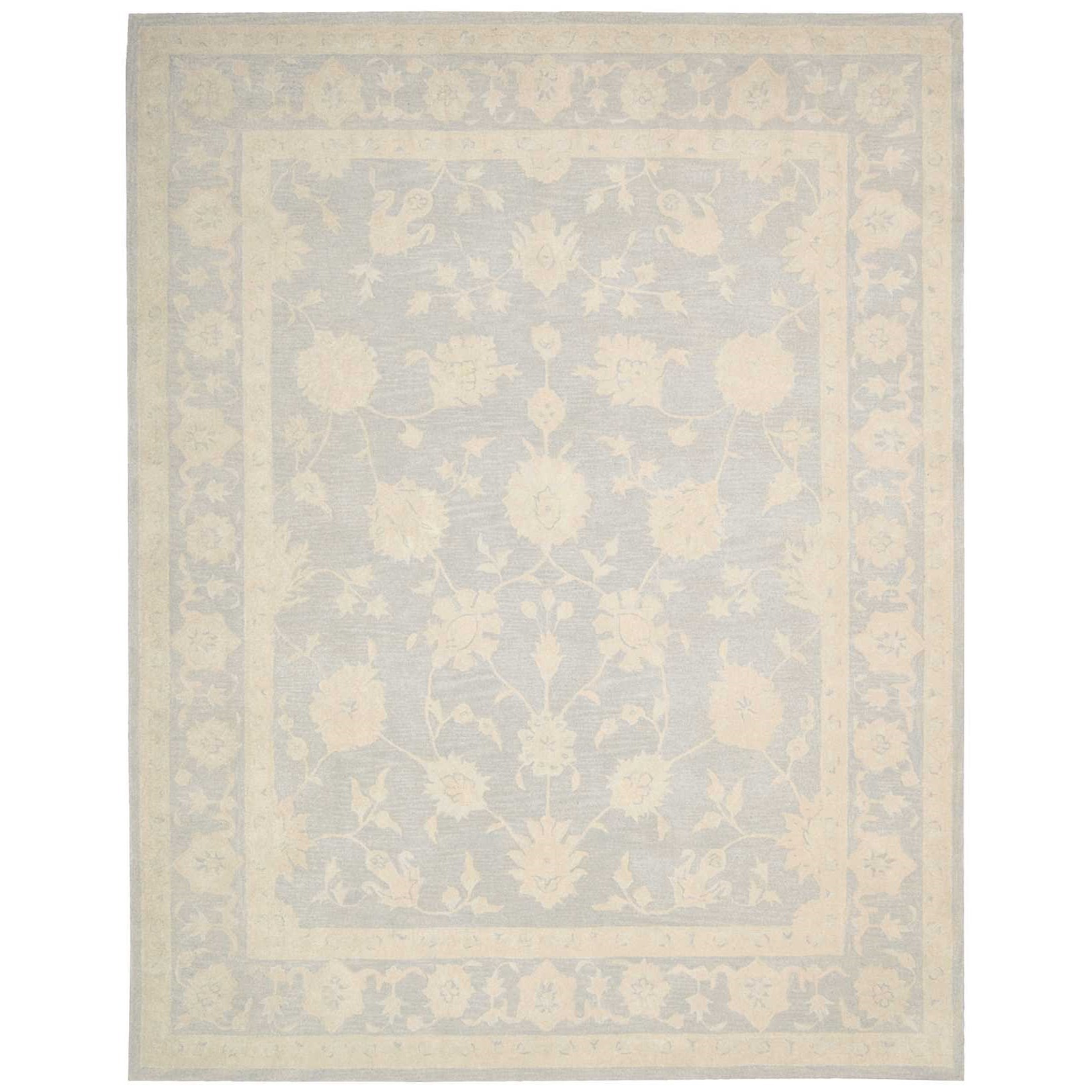Zephyr 8' X 11' Light Blue Rug by Nourison at Home Collections Furniture