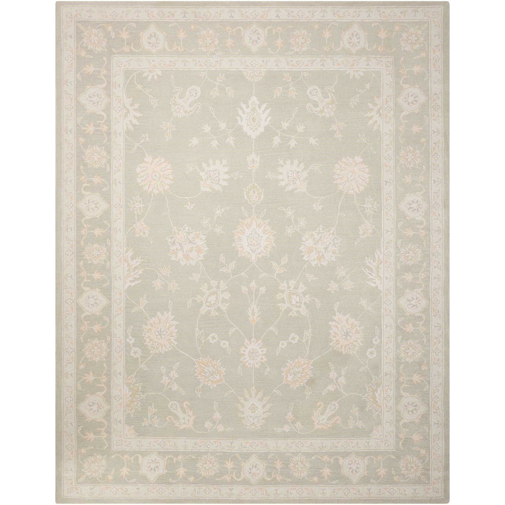 """Zephyr 3'9"""" X 5'9"""" Silver Rug by Nourison at Home Collections Furniture"""