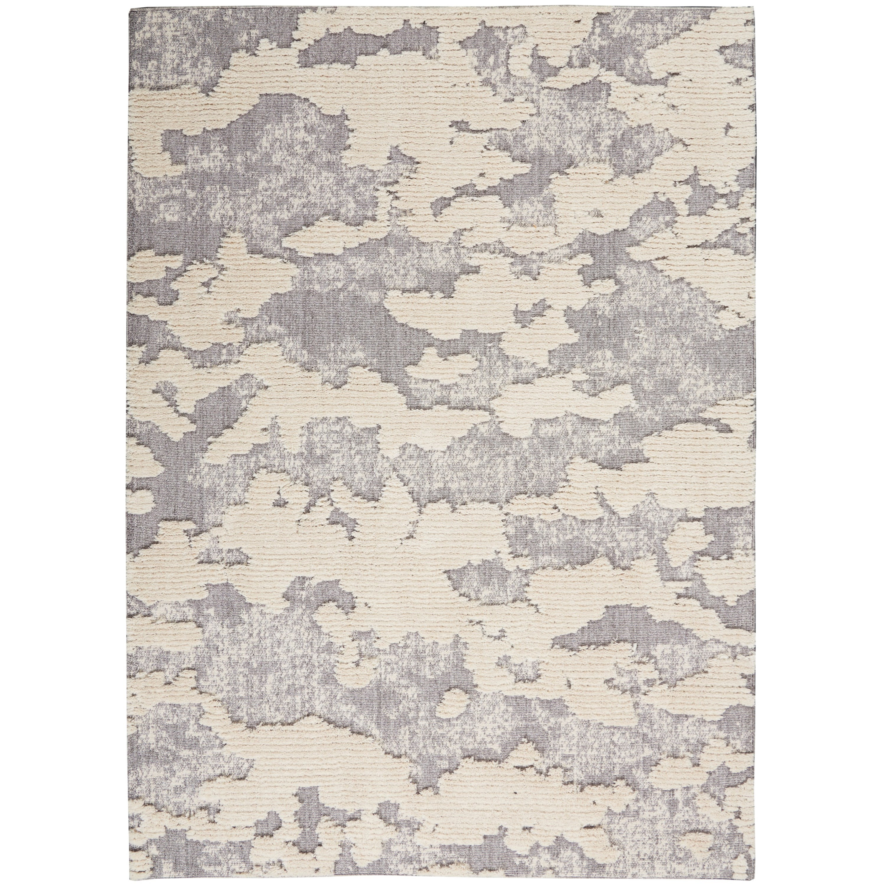 Zermatt 8' x 10' Ivory Neutral  Area Rug by Nourison at Home Collections Furniture