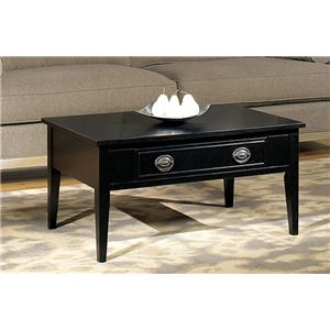 Single Drawer Cocktail Table with Decorative Handle and Backplate