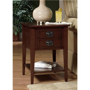 Single Drawer Magazine Storage End Table with Bottom Shelf