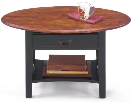 1900 International Accents Petite Oval Cocktail Table by Null Furniture at SuperStore