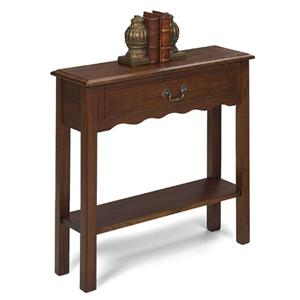 Rectangular Petite Console Table with Single Drawer, and Bottom Shelf