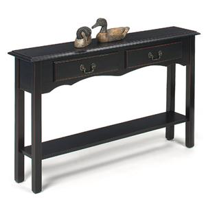 Petite Extra Long Console with 2 Drawers and Bottom Shelf
