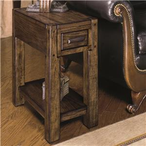 Chairside End Table with Shelf