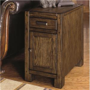 Chairside Cabinet with Magazine Rack