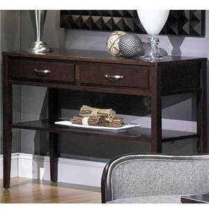 Rectangular Sofa Table with 2 Drawers and Shelf