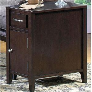 End Table with Drawer and Door
