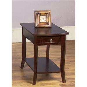 Rectangular End Table with 1 Drawer