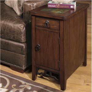 Chairside Cabinet with Magazine Storage