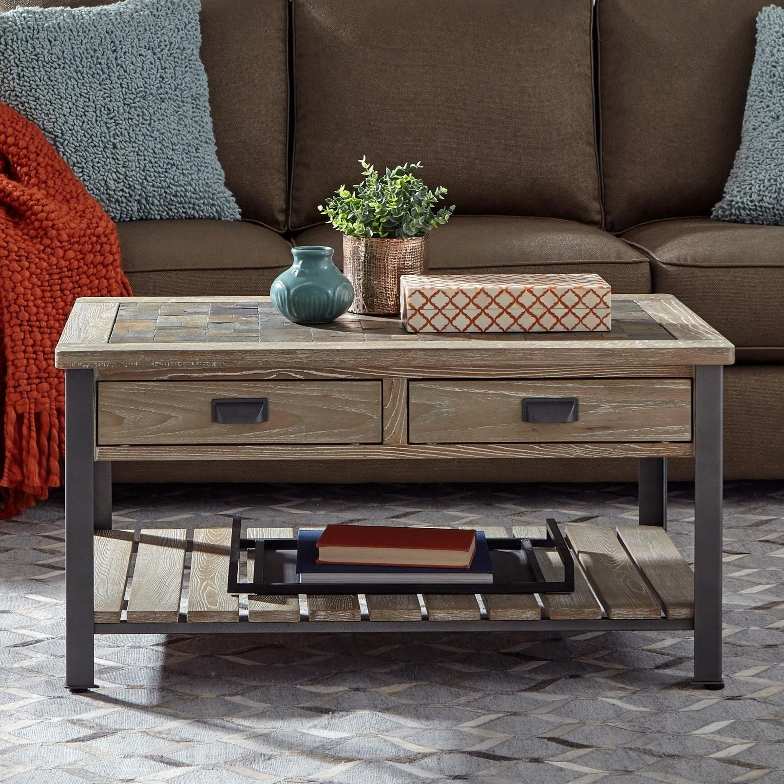9918 Rectangular Cocktail Table by Null Furniture at Wayside Furniture