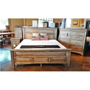 Queen Panel Livingston Bed with Block Feet