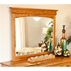 Square Dresser Mirror with Wooden Frame