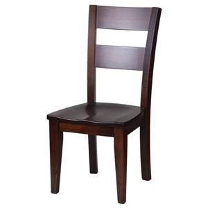 Dining Side Chair with Ladder Back and Block Legs