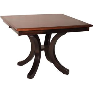 Bellevue Single Pedestal Dining Table with Splayed Legs and 2 Leaves